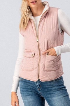 Love Tree Reversible Quilted/sherpa Vest - Product List Image