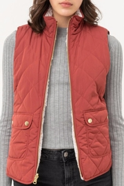 Love Tree Reversible Quilted/sherpa Vest - Front cropped