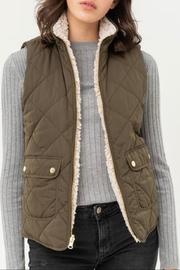 Love Tree Reversible Quilted Vest - Front cropped