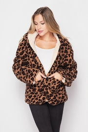 Love Tree Reversible Sherpa Jacket - Front cropped