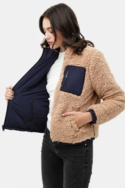 Love Tree Reversible Sherpa Jacket - Back cropped