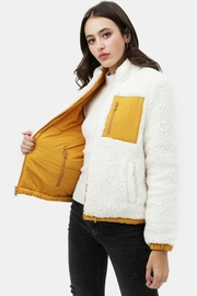 Love Tree Reversible Sherpa Jacket - Product Mini Image