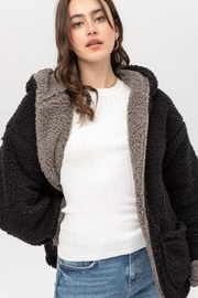 Love Tree Reversible Teddy Jacket - Front cropped