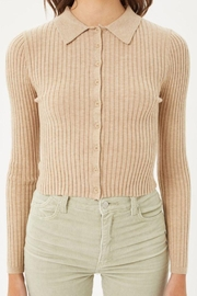 Love Tree Ribbed Collared Sweater Top - Other