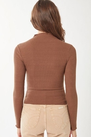 Love Tree Ribbed Long Sleeve Top - Side cropped