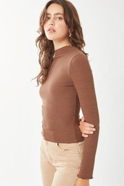 Love Tree Ribbed Long Sleeve Top - Front full body