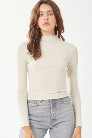 Love Tree Ribbed Long Sleeve Top - Front cropped