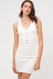 Love Tree Ribbed Mini Dress - Front cropped