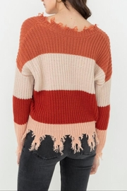 Love Tree Ripped Fringed Sweater - Side cropped