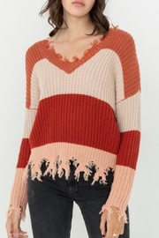 Love Tree Ripped Fringed Sweater - Product Mini Image