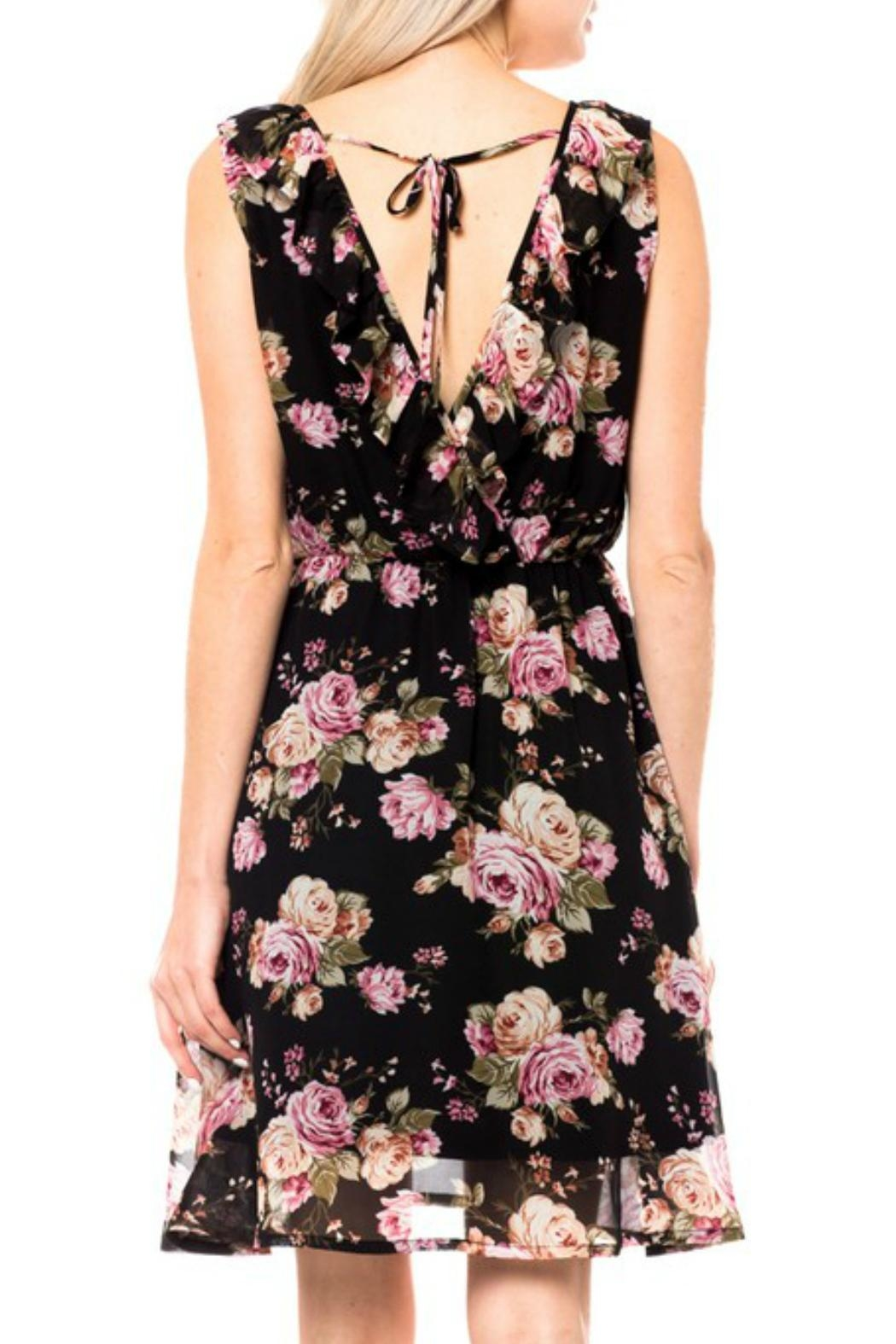 Love Tree Ruffle Floral Dress - Front Full Image