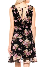 Love Tree Ruffle Floral Dress - Front full body