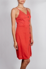 Love Tree Rust Button Detail Dress - Side cropped