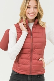 Love Tree Rust Puffy Vest - Product Mini Image