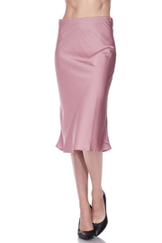 Love Tree Satin Midi Skirt - Product Mini Image