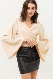 Love Tree Satin Wrap Top - Other