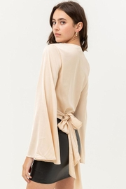 Love Tree Satin Wrap Top - Back cropped