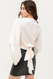Love Tree Satin Wrap Top - Side cropped
