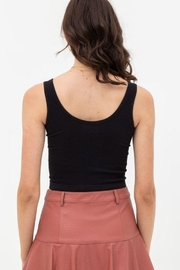 Love Tree Scooped Knit Tank Top - Back cropped