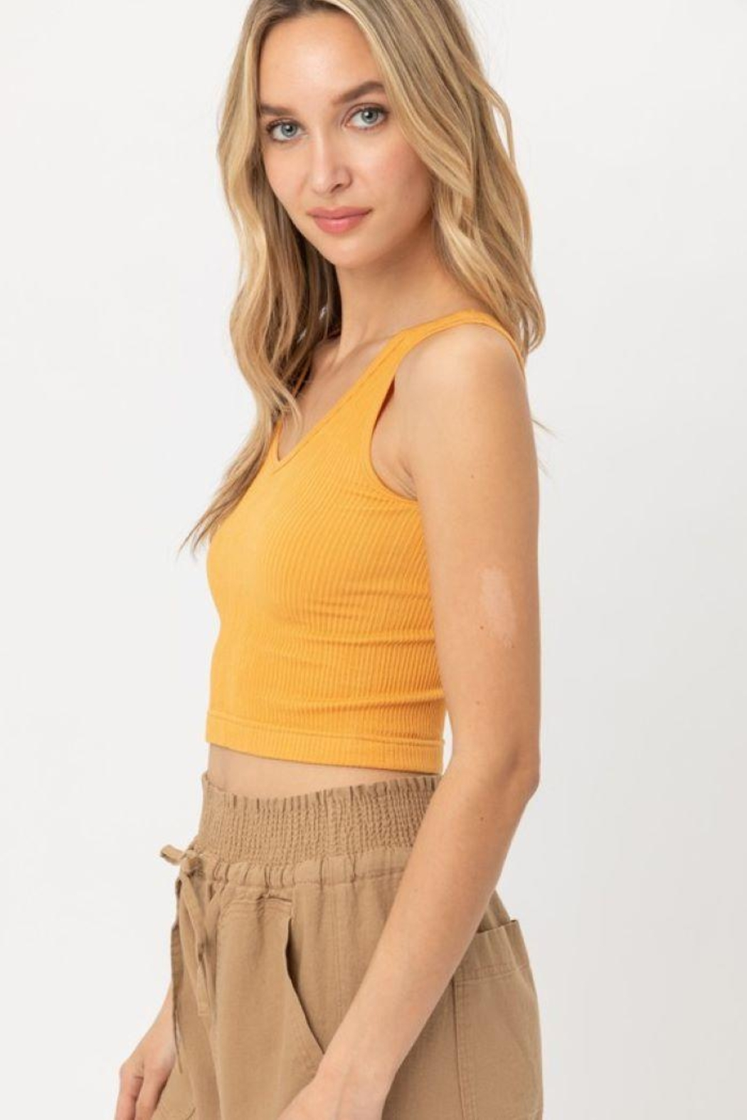 Love Tree Scooped Knit Tank Top - Front Full Image