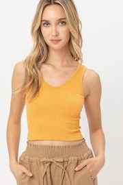 Love Tree Scooped Knit Tank Top - Front cropped