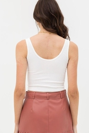 Love Tree Scooped Knit Tank Top - Side cropped