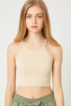 Love Tree Seamless Cropped Cami Top - Product List Image