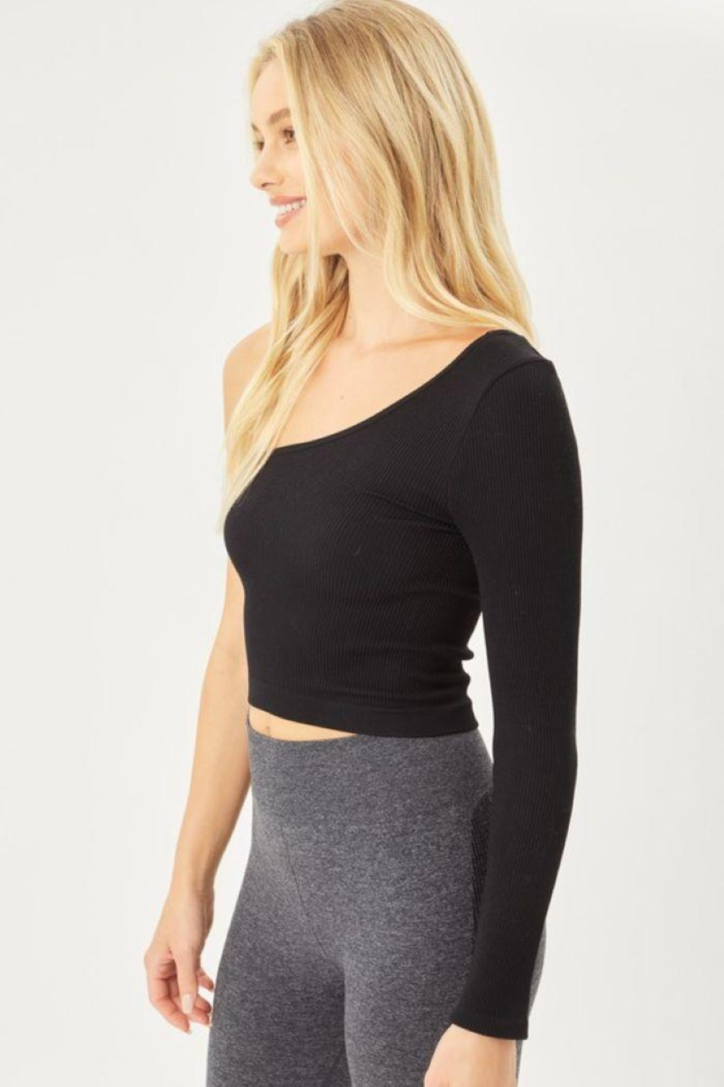 Love Tree Seamless Ots Crop Top - Back Cropped Image