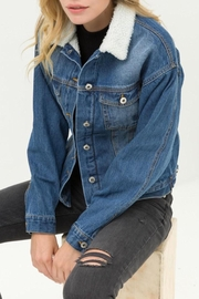 Love Tree Sherpa Denim Jacket - Product Mini Image