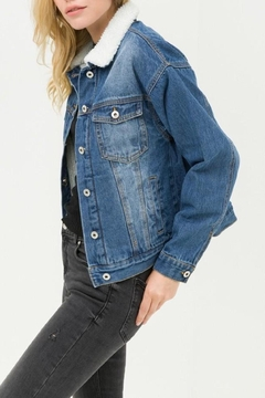 Love Tree Sherpa Denim Jacket - Alternate List Image