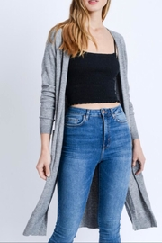Love Tree Side Slit Cardigan - Front cropped