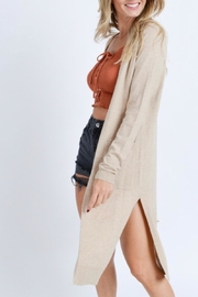 Love Tree Side Slit Cardigan - Product Mini Image