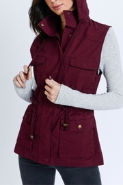 Love Tree Sleeveless Hooded Vest - Front cropped