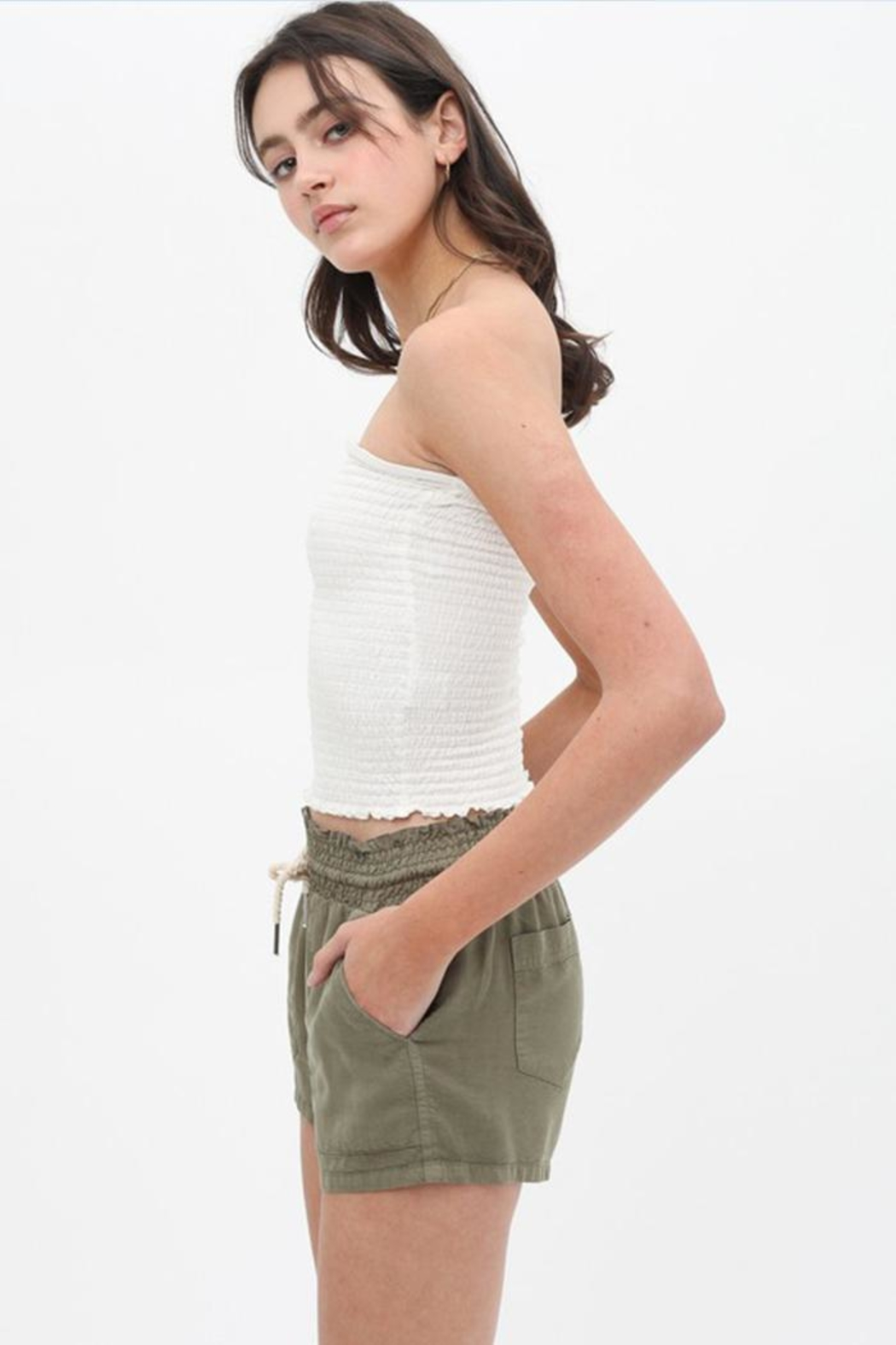 Love Tree Smocked Tube Top - Front Full Image