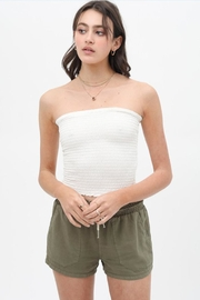 Love Tree Smocked Tube Top - Front cropped