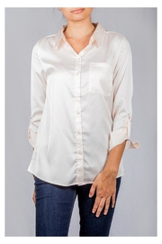 Love Tree Smooth Satin Button-Down - Front cropped