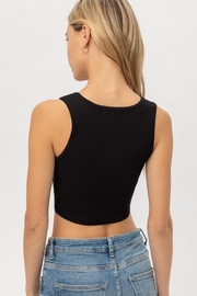 Love Tree Snap Button Crop Top - Back cropped
