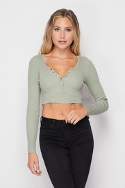 Love Tree Snap Button Top - Front cropped