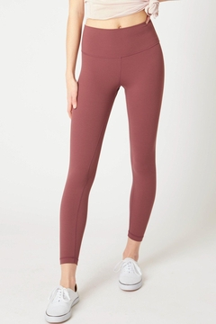 Love Tree Soft And Smooth High Waisted Legging Available In Charcoal & Maroon - Alternate List Image