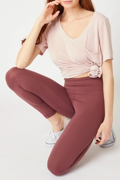 Love Tree Soft And Smooth High Waisted Legging Available In Charcoal & Maroon - Product List Image