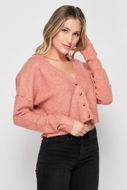 Love Tree Soft Button Down Cardigan - Front full body