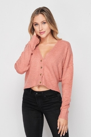 Love Tree Soft Button Down Cardigan - Front cropped