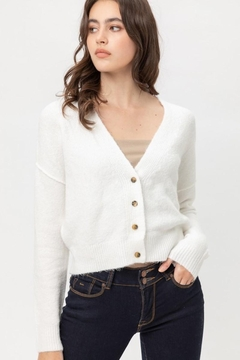 Love Tree Soft Button Down Cardigan - Product List Image