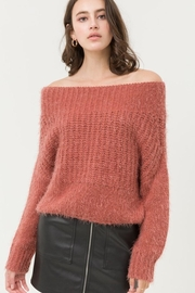 Love Tree Soft Rust Off Shoulder Sweater - Product Mini Image