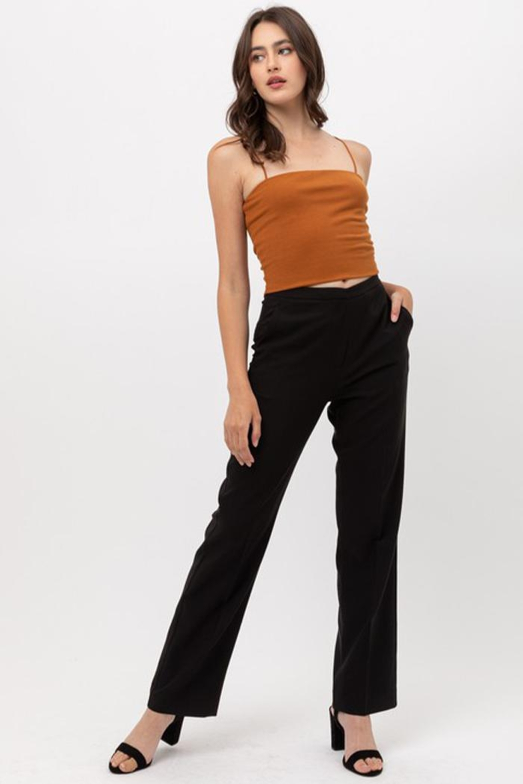 Love Tree Solid Formal Trousers - Main Image