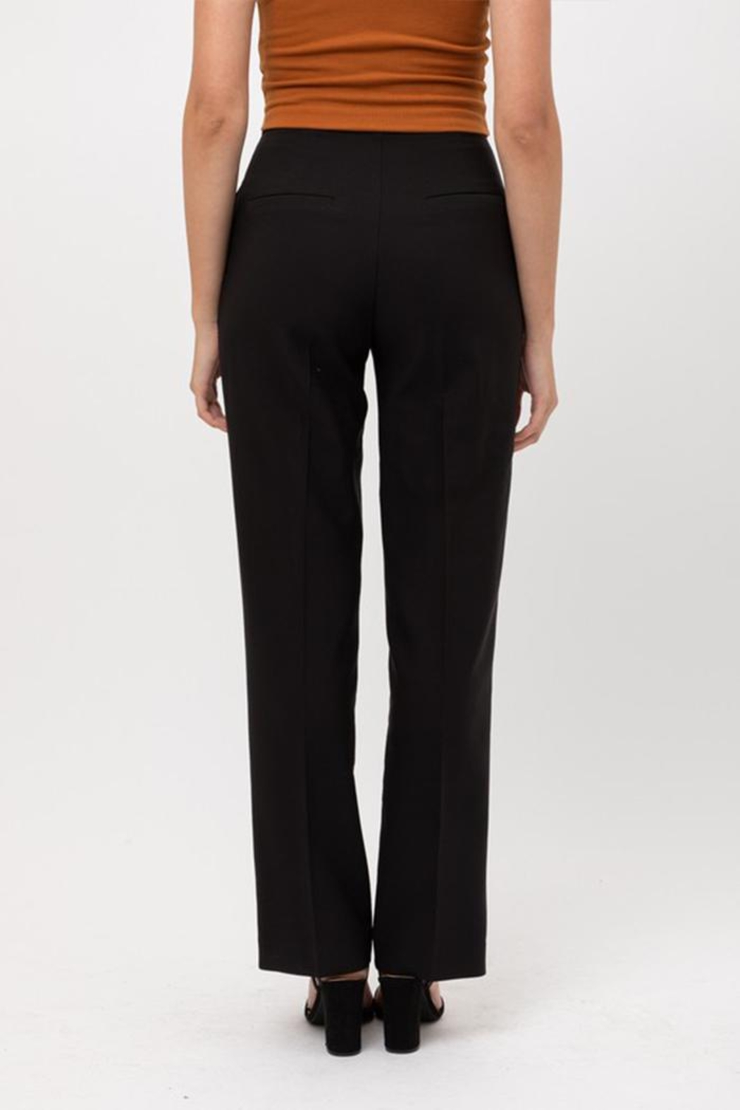 Love Tree Solid Formal Trousers - Back Cropped Image