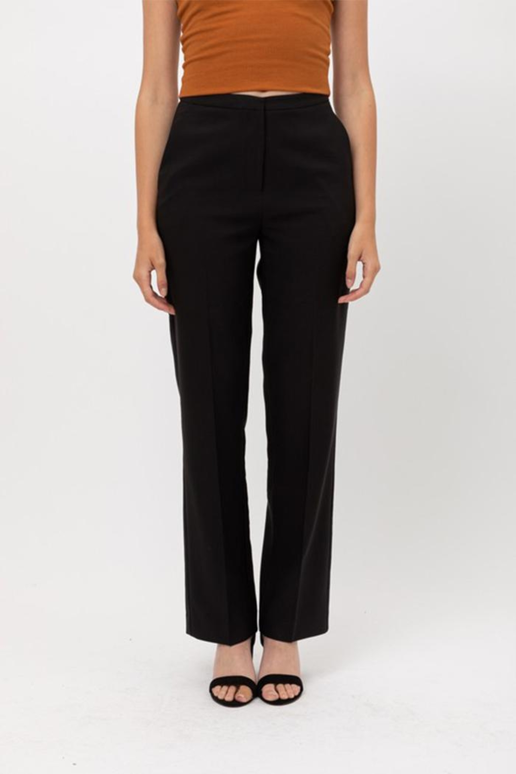 Love Tree Solid Formal Trousers - Front Full Image