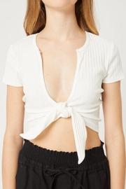 Love Tree Solid Rib Crop Top - Back cropped