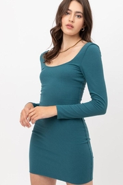 Love Tree Solid Rib Dress - Front cropped
