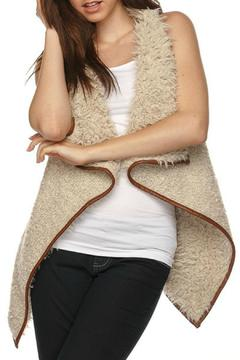 Love Tree Solid Shearling Vest - Product List Image